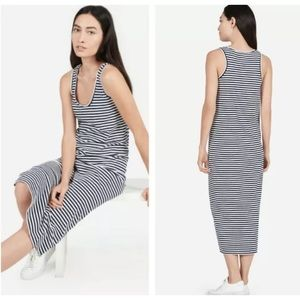 Everlane Black/White Striped Maxi Dress Size XS